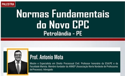 Palestra: Normas Fundamentais do Novo CPC em Petrolândia – PE